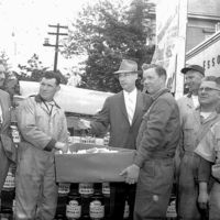 Esso prize drawing, Chelsea Street, May 5, 1958
